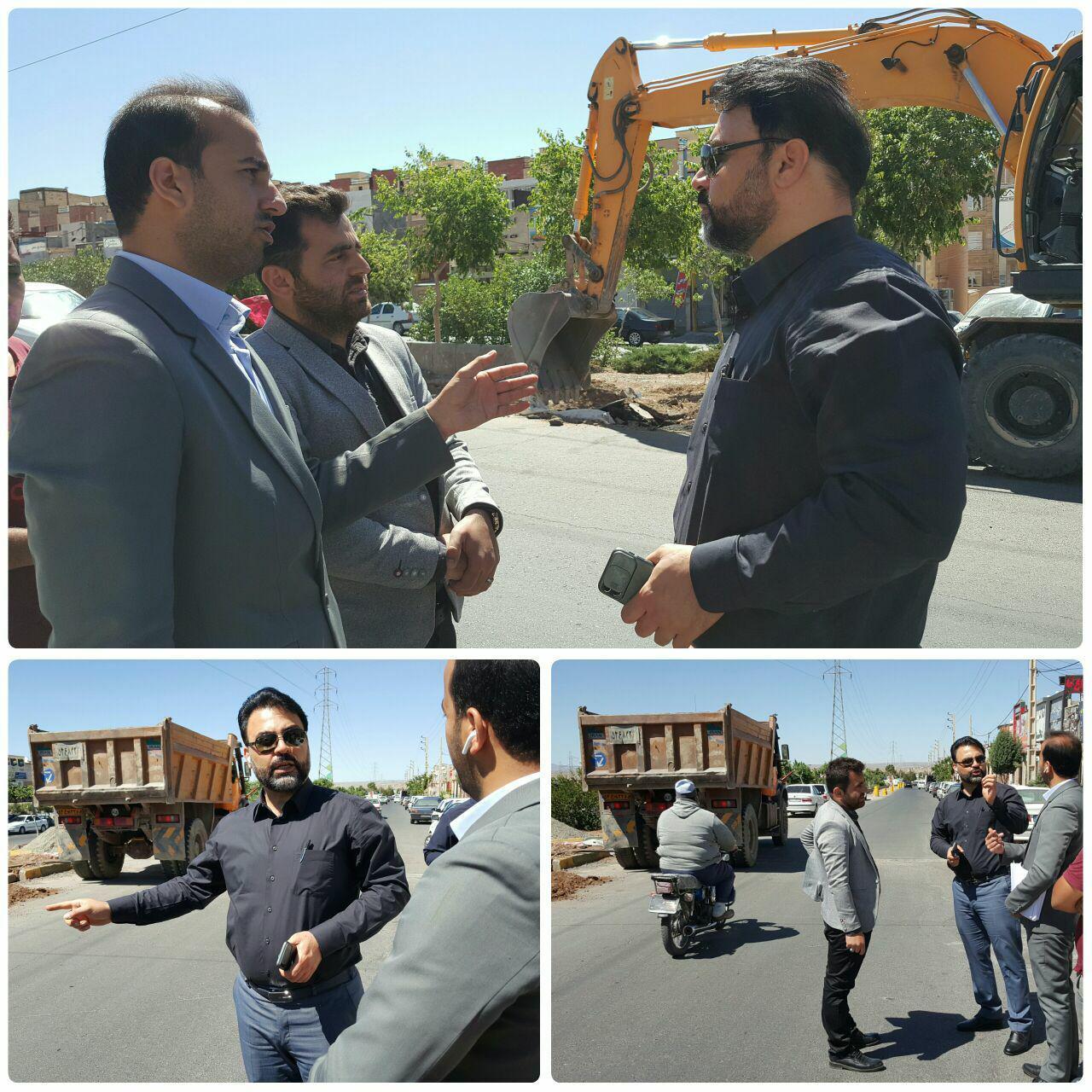 بازدید شهردار پرند از سطح شهر / تأکید مهندس عرب بر نظارت دقیق پروژه های عمرانی