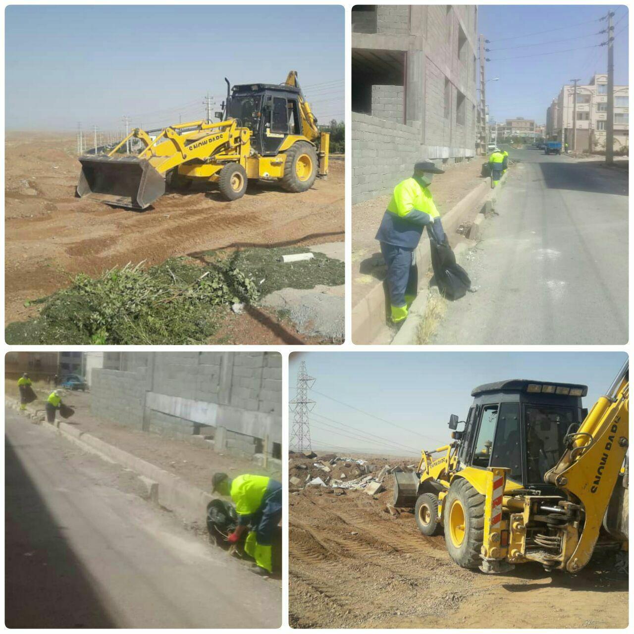 اجرای طرح پاکسازی و تنظیف محله به محله در شهر پرند