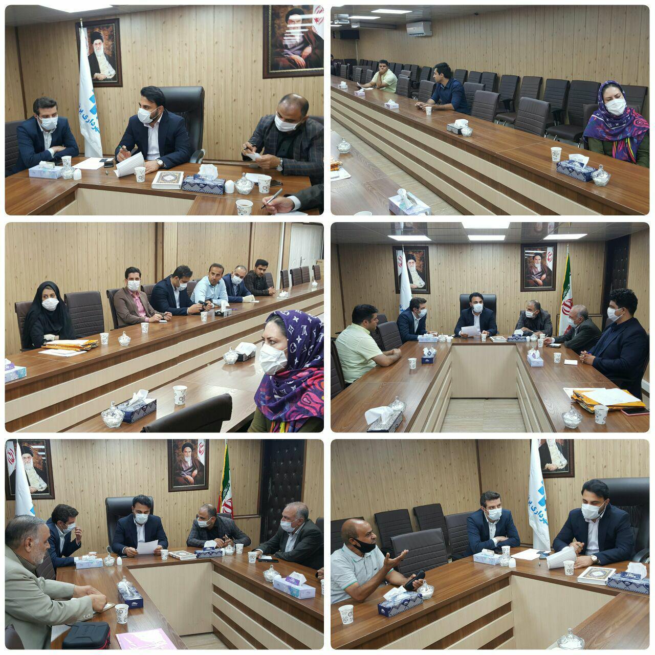 برگزاری جلسه ملاقات مردمی شهردار پرند با حضور کلیه معاونین و رعایت پروتکل های بهداشتی