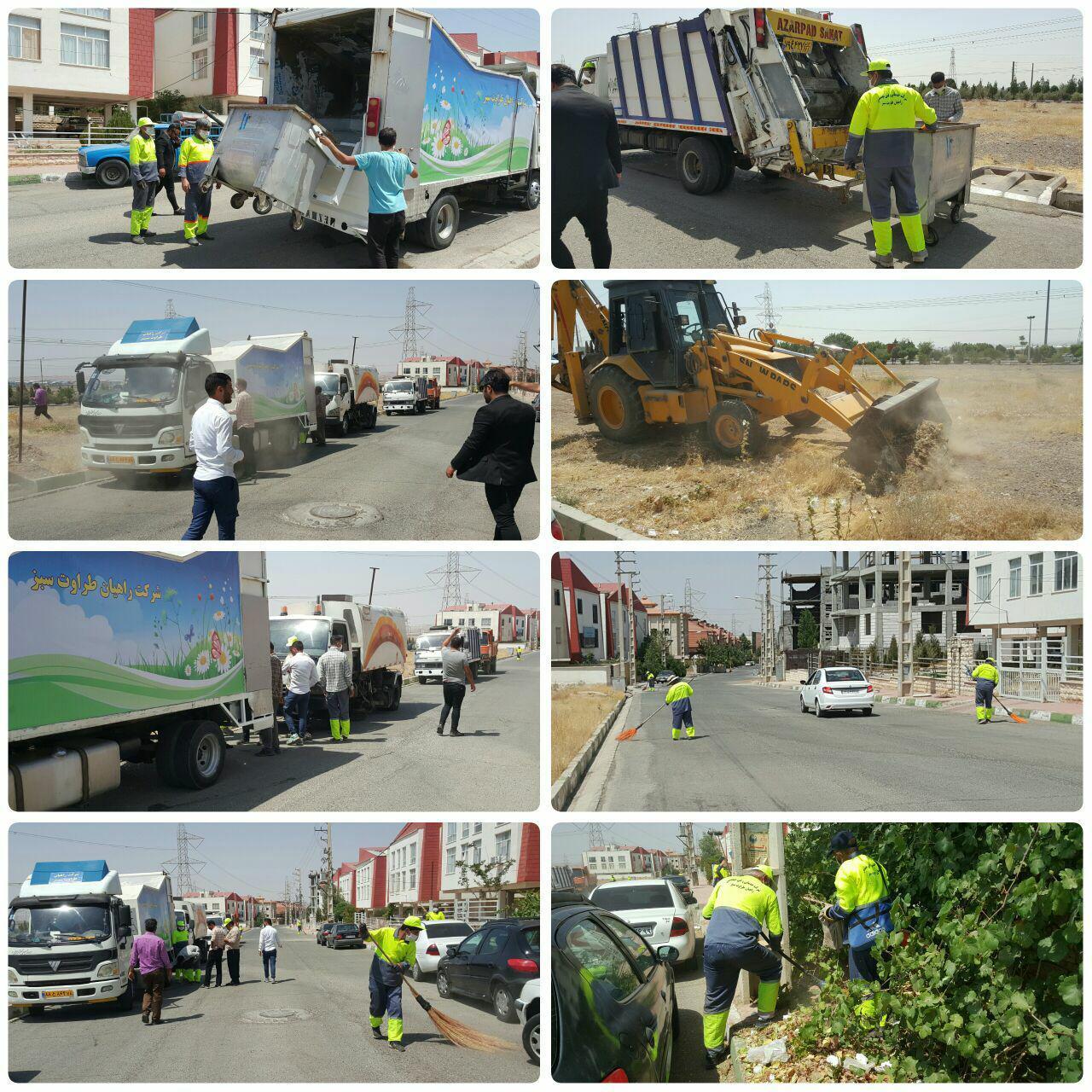 طرح پاکسازی محله به محله و جمع آوری نخاله در فاز صفر شهر پرند