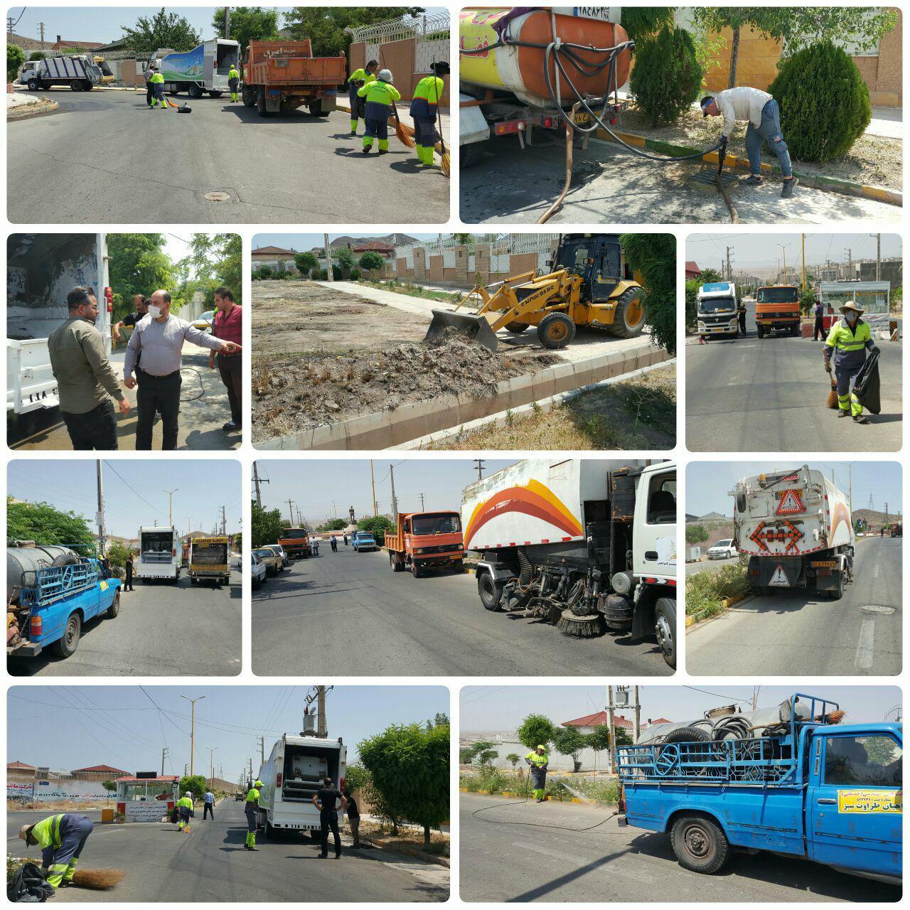 طرح جهادی پاکسازی محله به محله در فاز دو شهر پرند اجرا شد