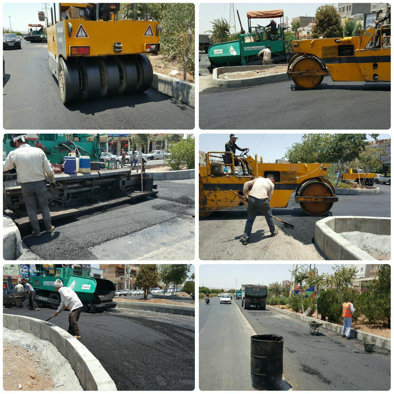 گام آخر / پروژه اصلاح هندسی بلوار امام خمینی (ره) به واپسین روزهای خود رسید