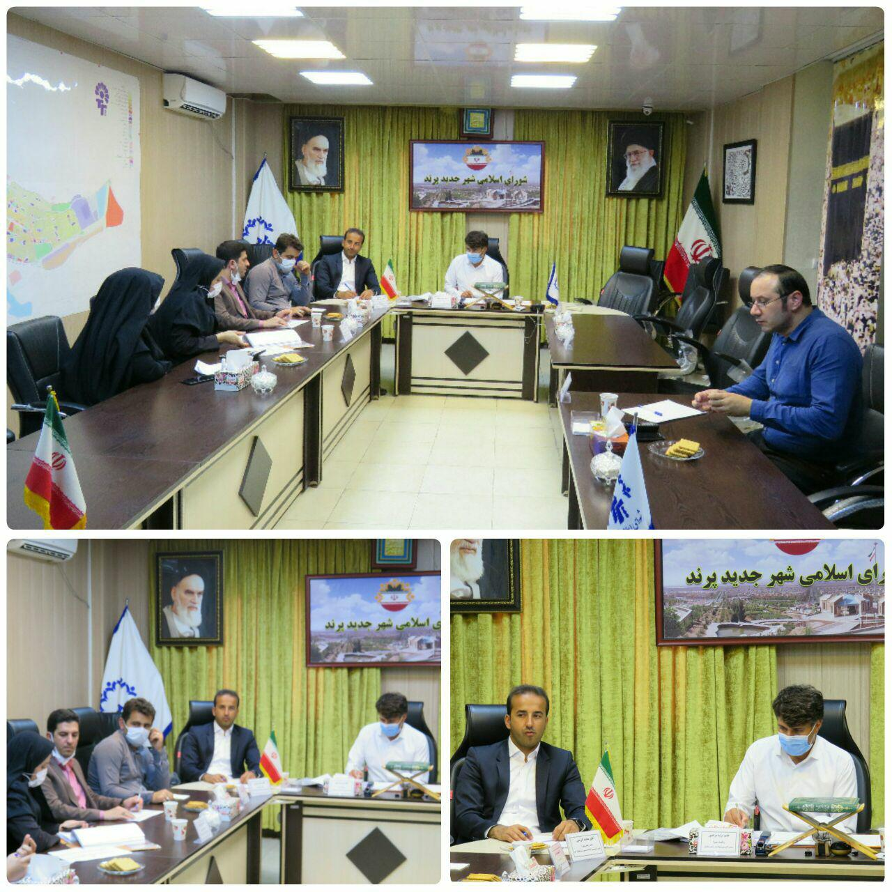 برگزاری جلسه کمیسیون عمران و برنامه بودجه شورای اسلامی شهر پرند