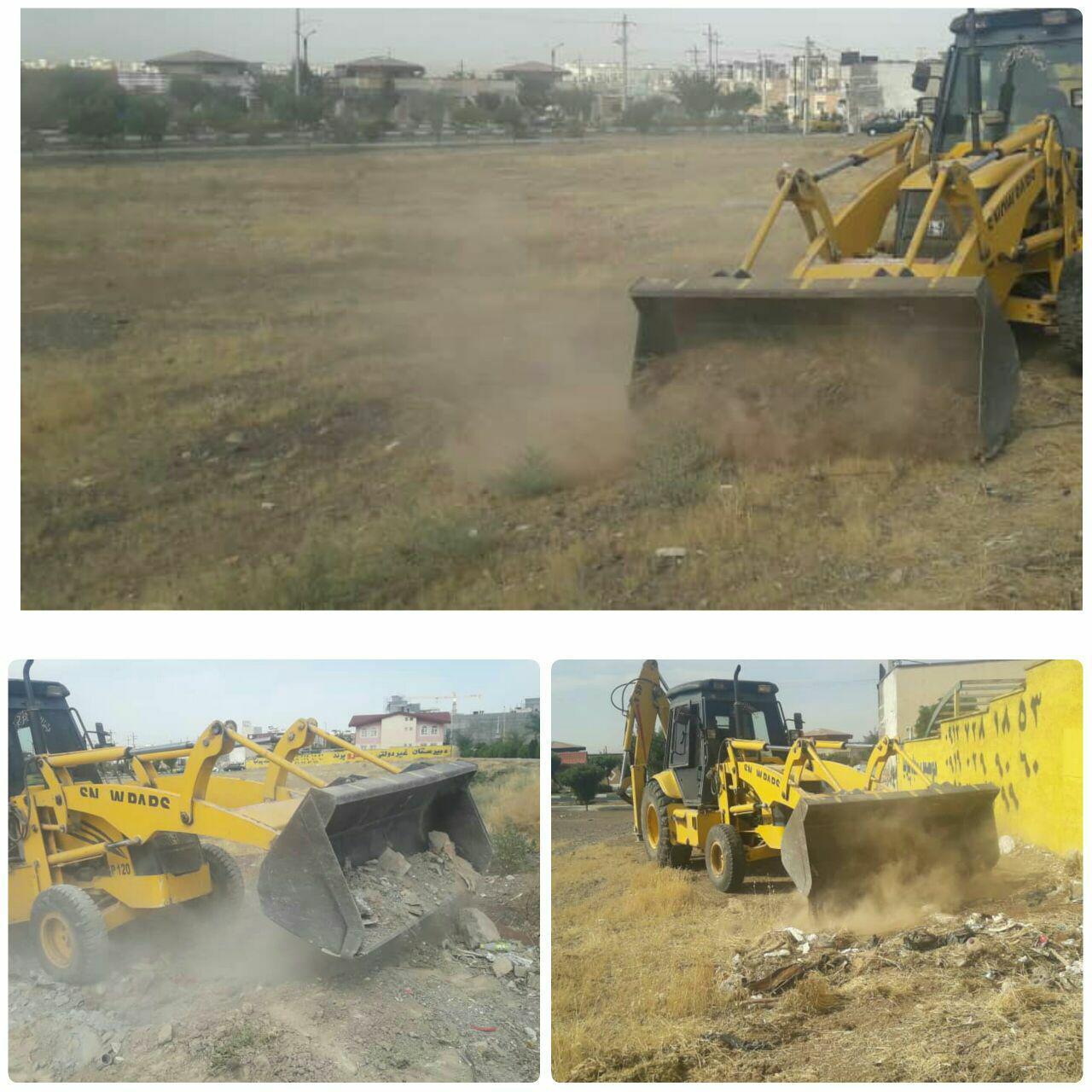 جمع آوری نخاله و پاکسازی محله ای در فاز دو شهر پرند