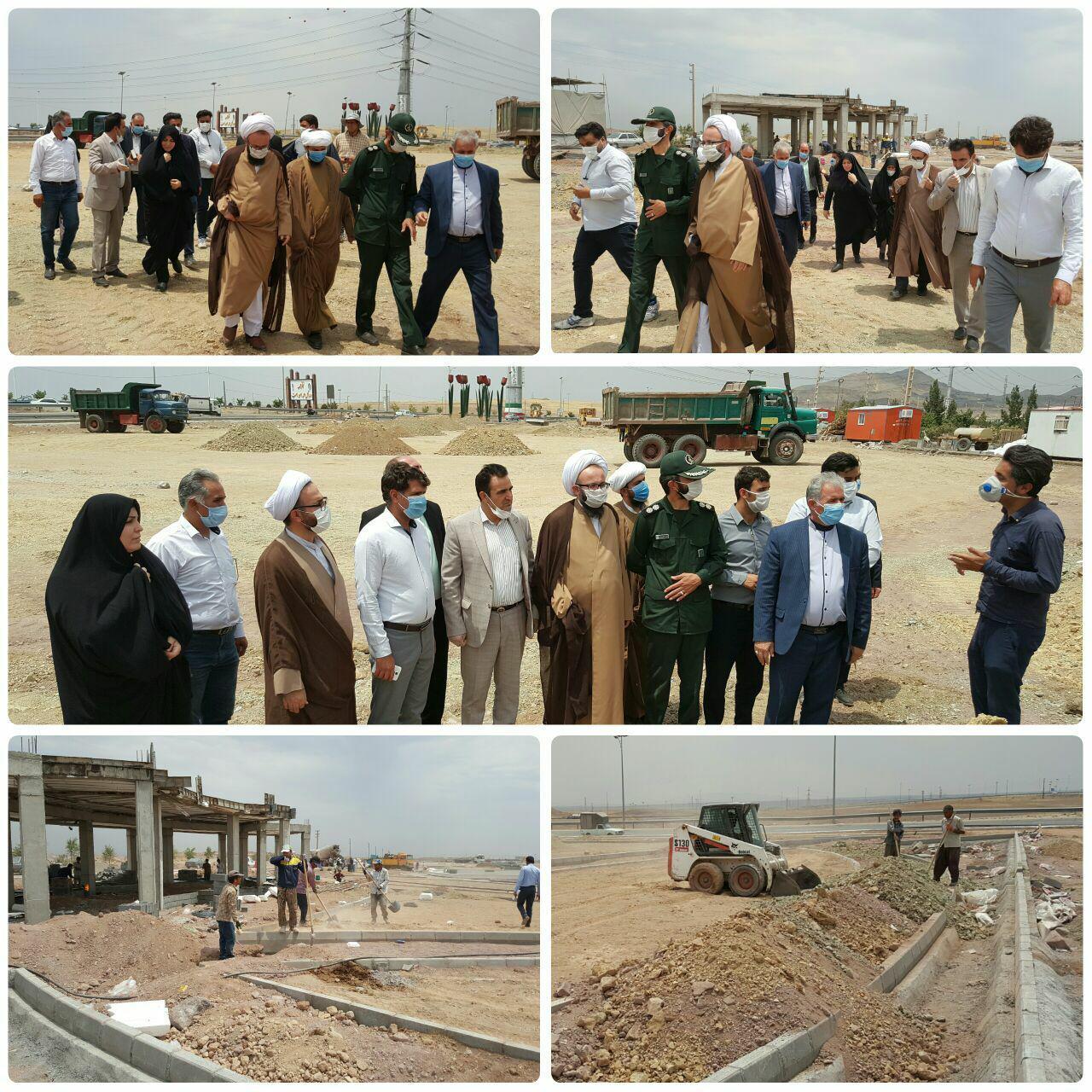 بازدید امام جمعه و مسئولان شهر پرند از بوستان بزرگ شهدای هسته ای