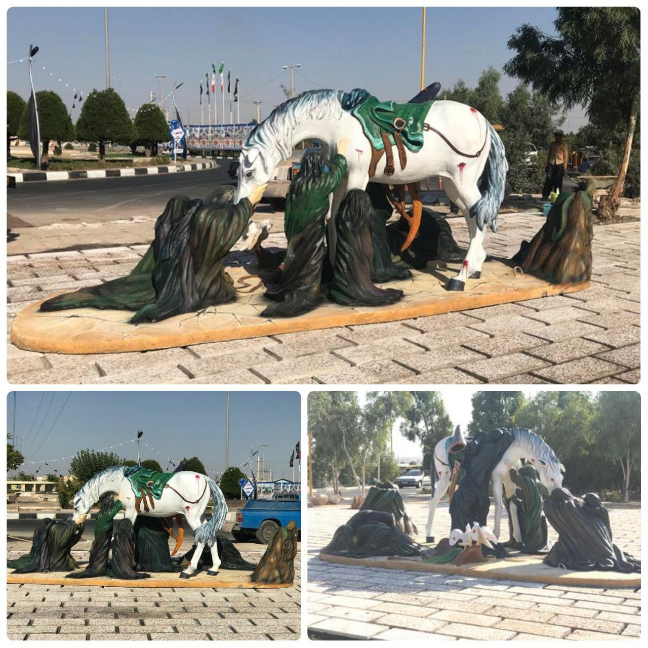نصب اِلمان عاشورای حسینی (ع) در شهر پرند