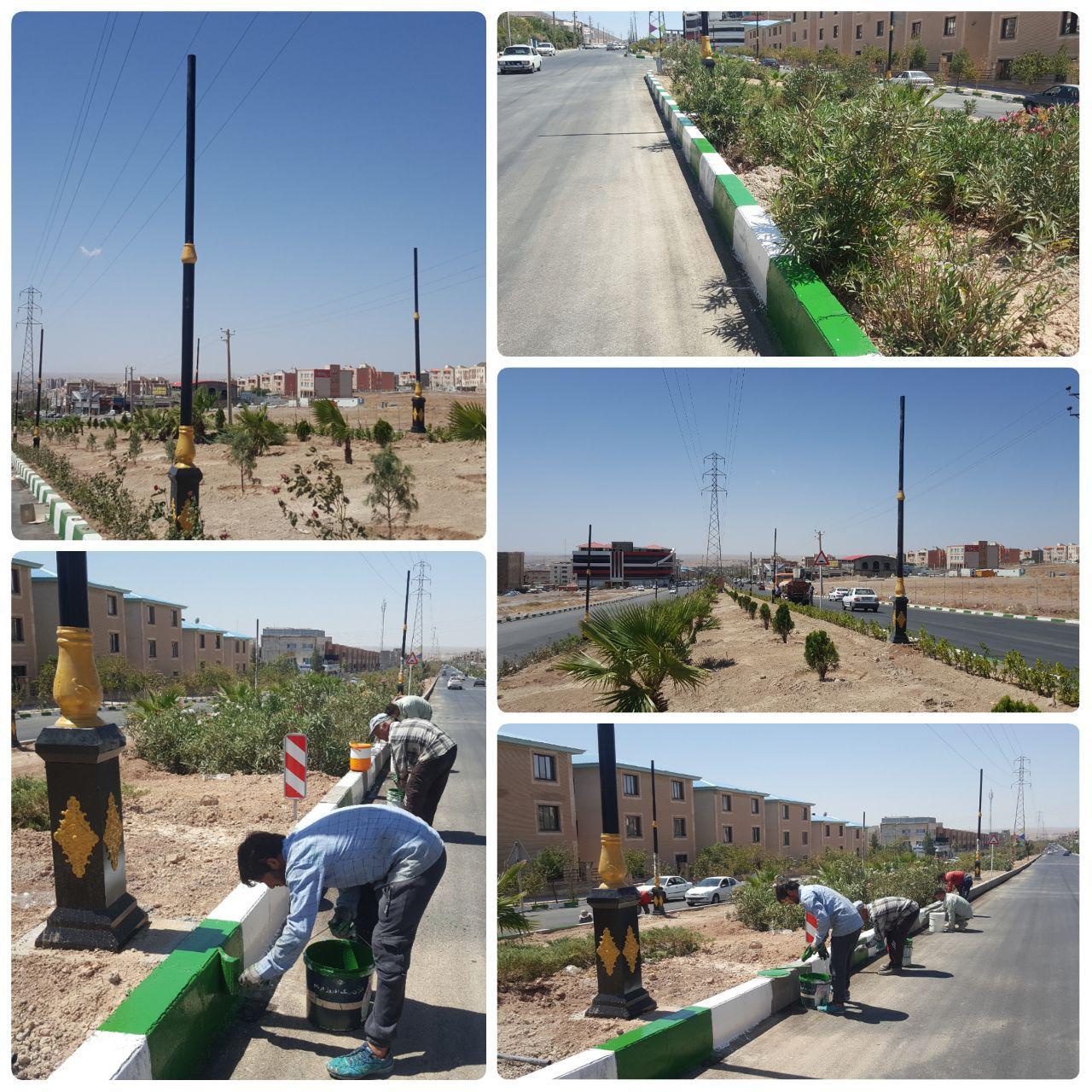 بلوار امام خمینی (ره) شهر پرند؛ روشن و نونوار می شود
