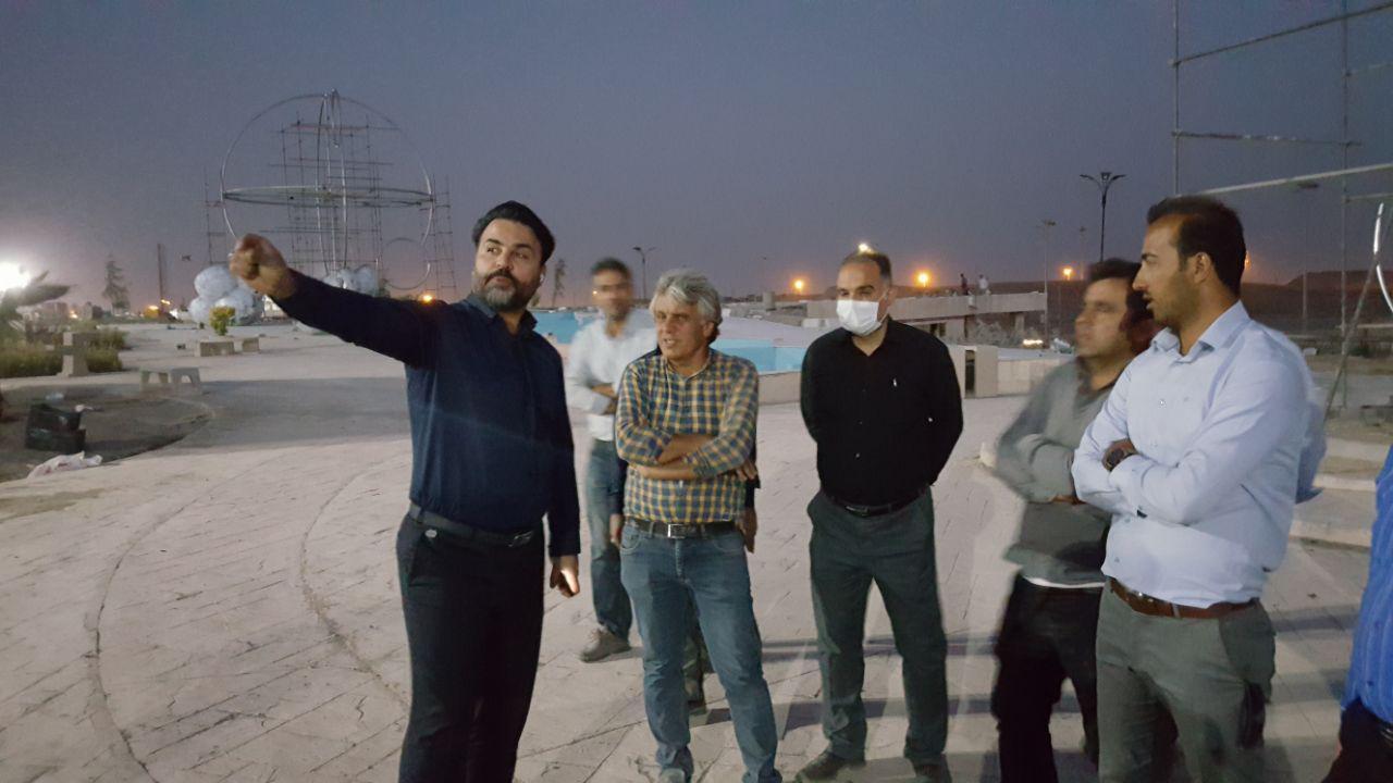 نفس های آخر پروژه بزرگ بوستان شهدای هسته ای / شب های پرکار مدیریت شهری پرند برای توسعه و آبادانی