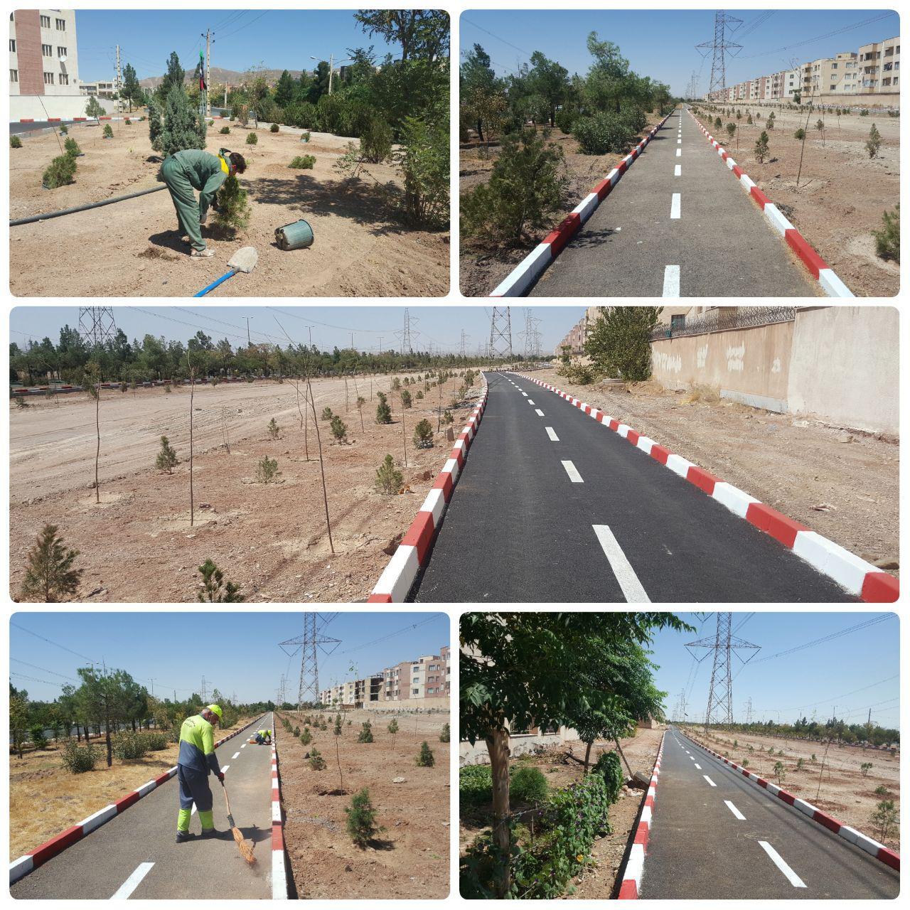 یک پروژه ورزشی، تفریحی دیگر در پرند آماده افتتاح شد / پایان عملیات عمرانی فاز دوم پیست دوچرخه سواری