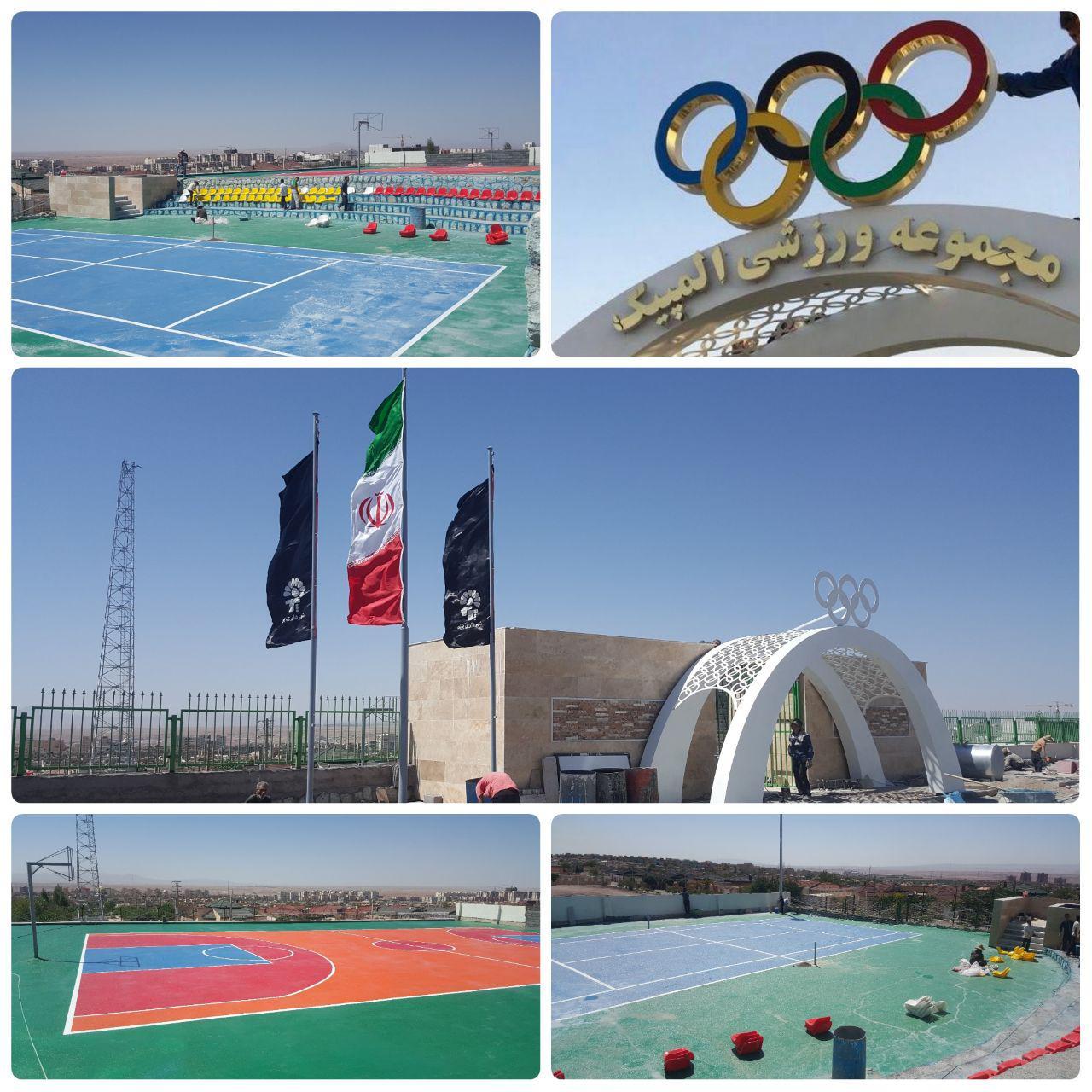 نصب سردر مجموعه ورزشی المپیک شهر پرند