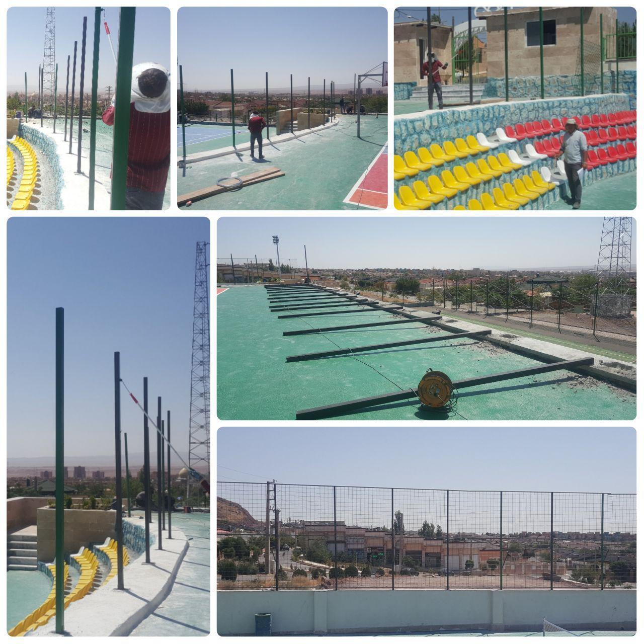 نصب و رنگ آمیزی نرده های پیرامونی مجموعه ورزشی المپیک