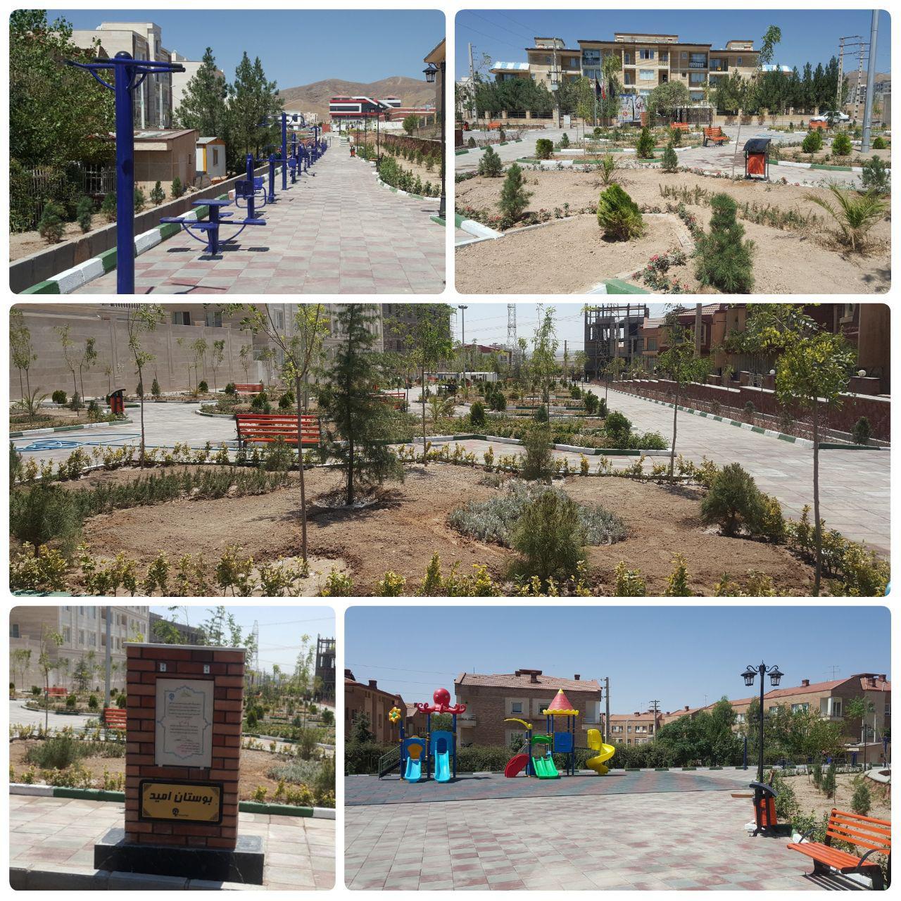 اتمام کاشت فضای و نصب سِت های ورزشی در پارک امید