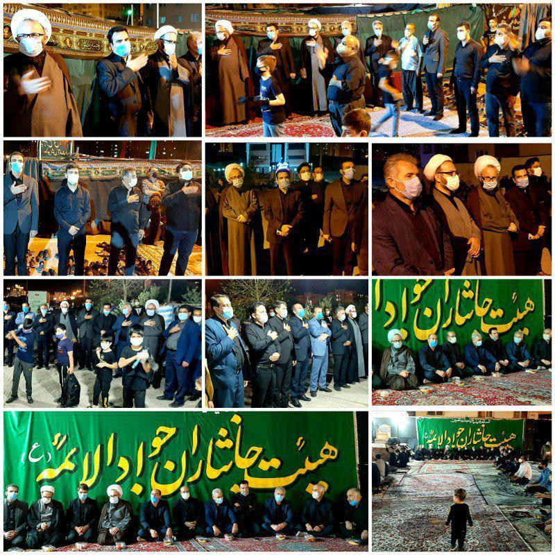 حضور امام جمعه، رئیس، نایب رئیس و اعضای شورای اسلامی شهر پرند در هیئات مذهبی سطح شهر