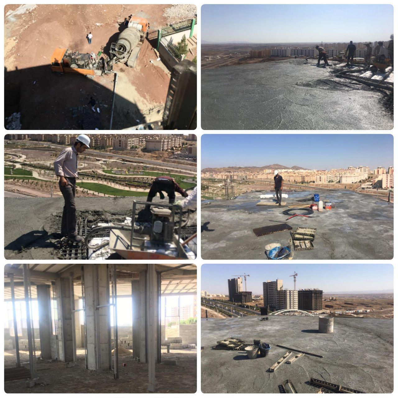 گام دوم مدیریت شهری پرند برای توسعه زیرساخت ها در سال ۹۹ / اتمام عملیات بتن ریزی سقف ساختمان مرکزی شهرداری پرند