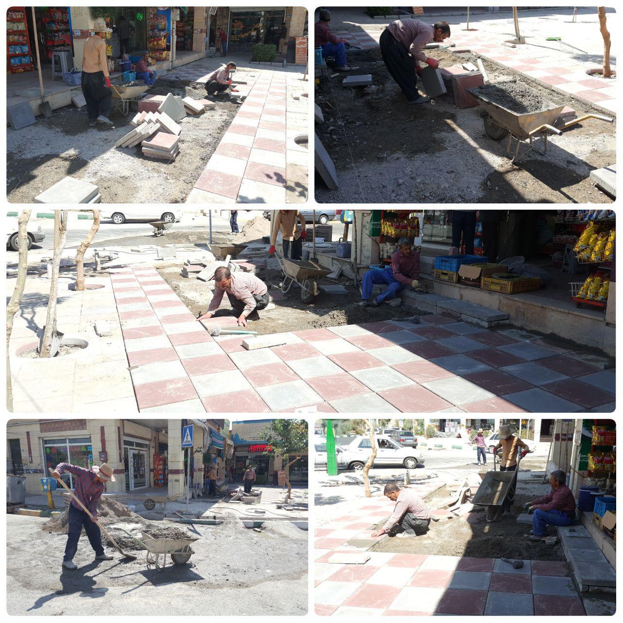 آغاز پروژه کف پوش میدان آسمان / سنگ فرش های زیبا زیر پای شهروندان پرند