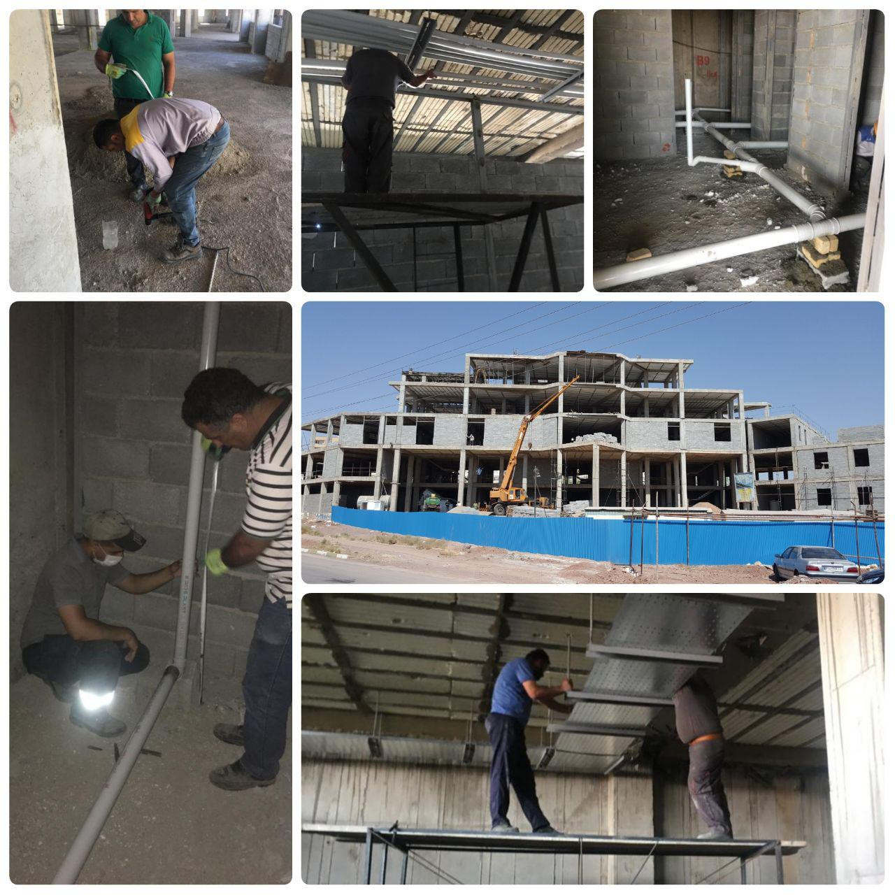 روند احداث ساختمان مرکزی شهرداری پرند به نیمه های راه رسید
