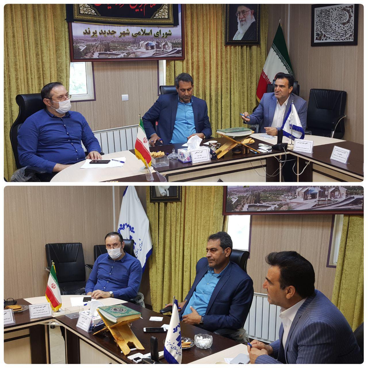 برگزاری جلسه کمیسیون اقتصاد و سرمایه گذاری شورای اسلامی شهر پرند