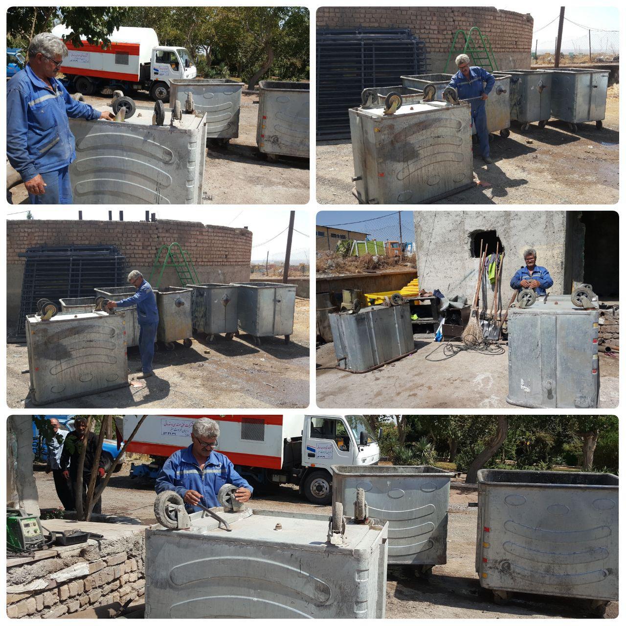 بازسازی و تعمیر باکس های زباله در شهر پرند