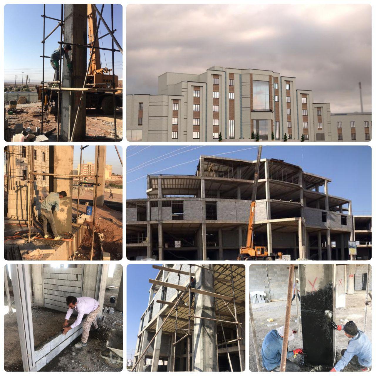 پیشرفت قابل توجه عملیات احداث ساختمان مرکزی شهرداری پرند