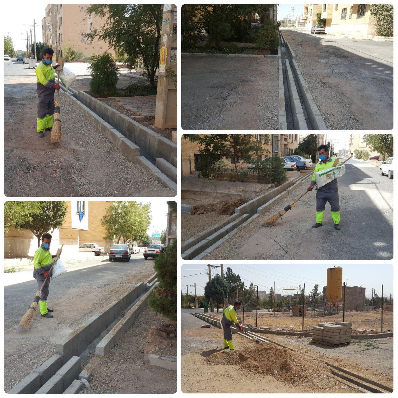 اتمام پروژه اصلاح انهار جهت جلوگیری از آبگرفتگی در خیابان آراد شهر پرند