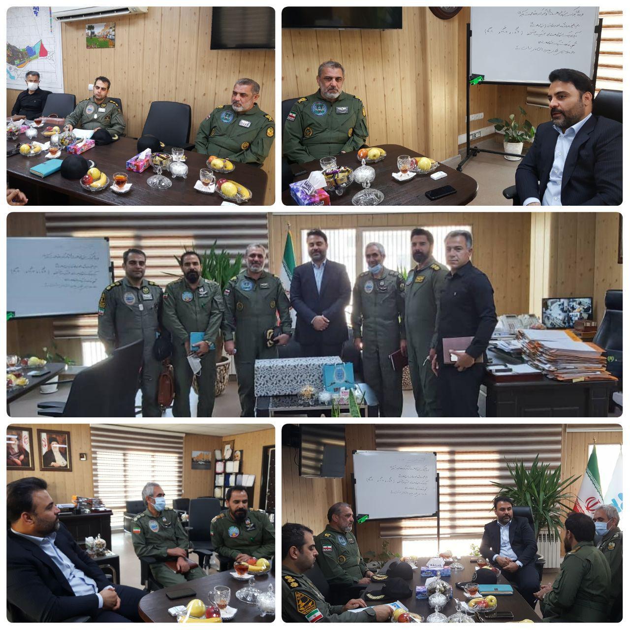 دیدار شهردار پرند با فرمانده هوانیروز ارتش جمهوری اسلامی ایران