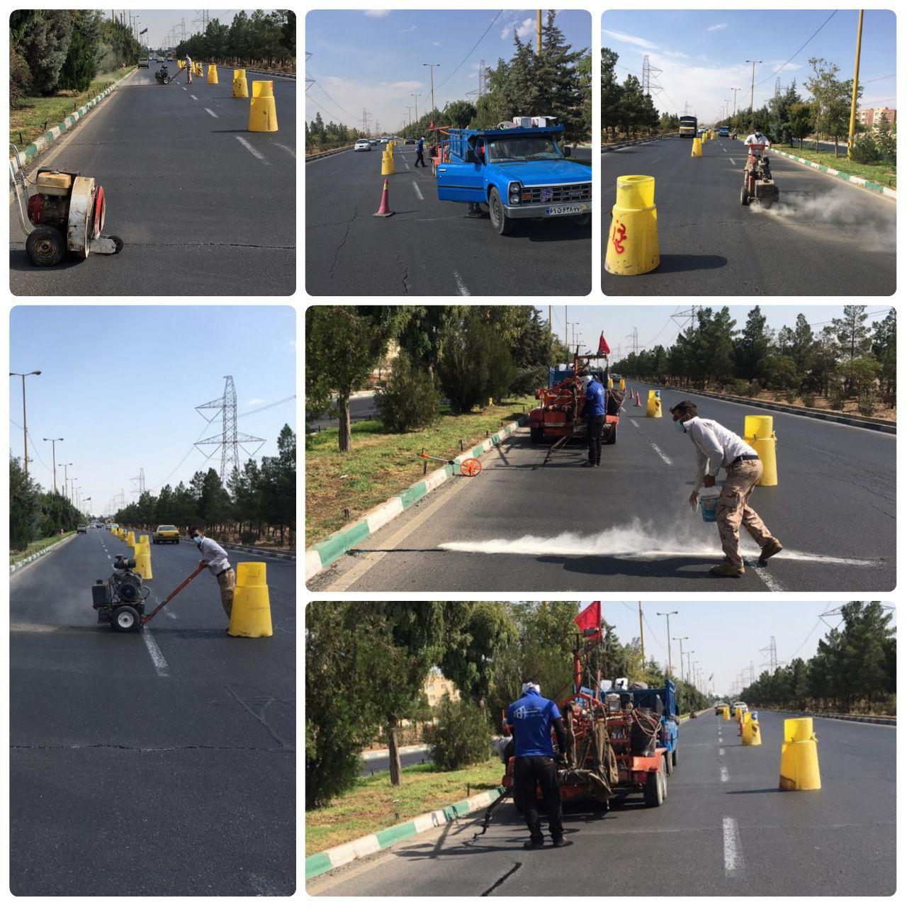 اجرای درزگیری نانو پلیمری در لاین شمالی بلوار شهید باهنر