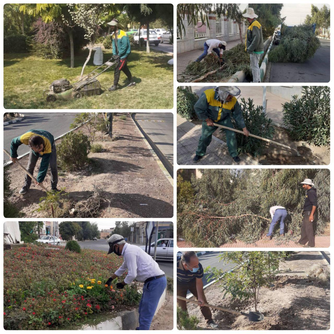 اقدامات گسترده شهرداری پرند برای حفظ و توسعه عرصه های فضای سبز