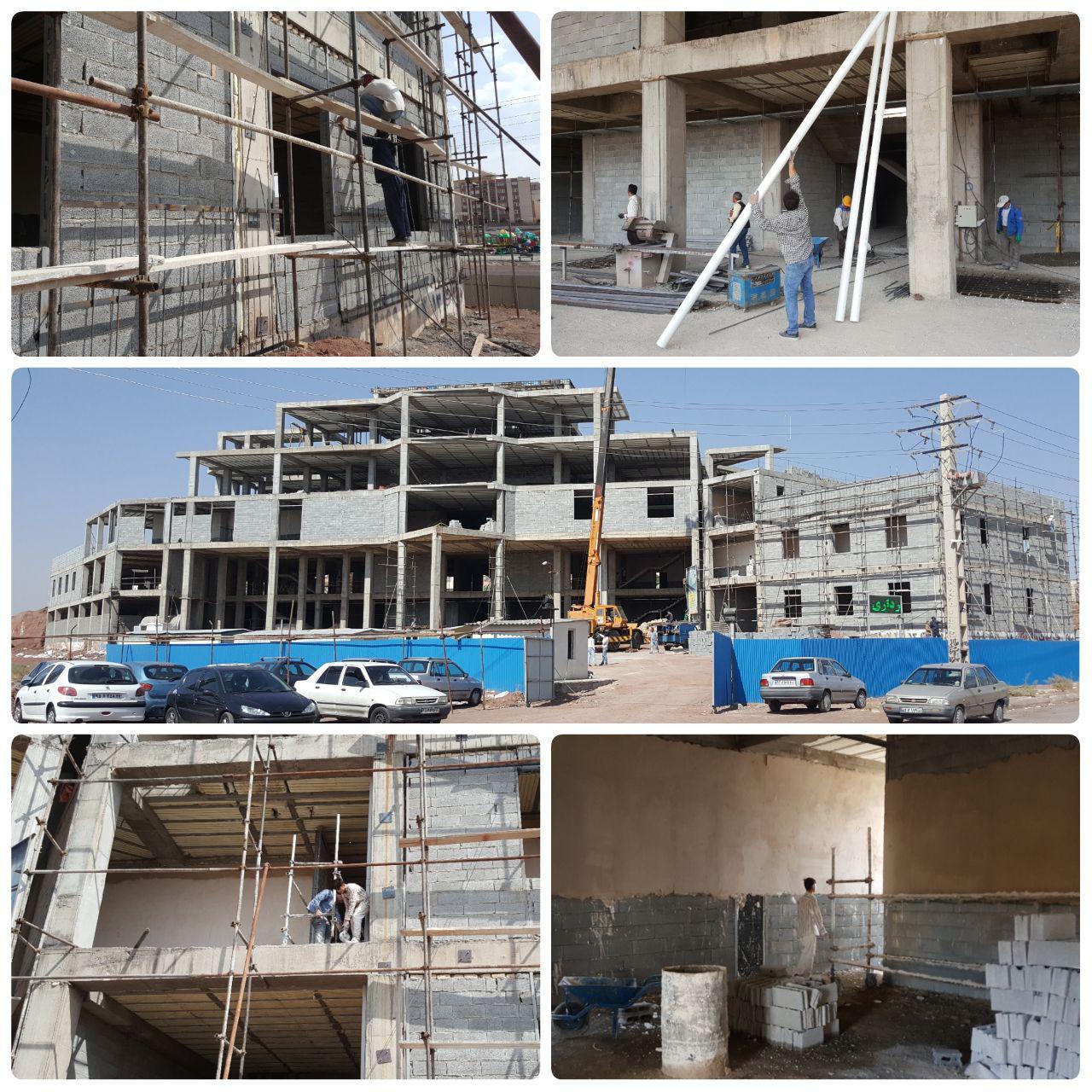 روند احداث ساختمان مرکزی شهرداری پرند