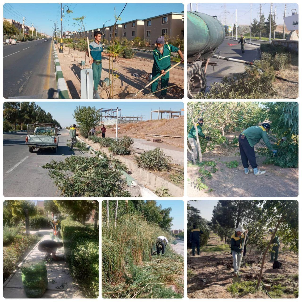 اقدامات مدیریت شهری پرند در حوزه فضای سبز