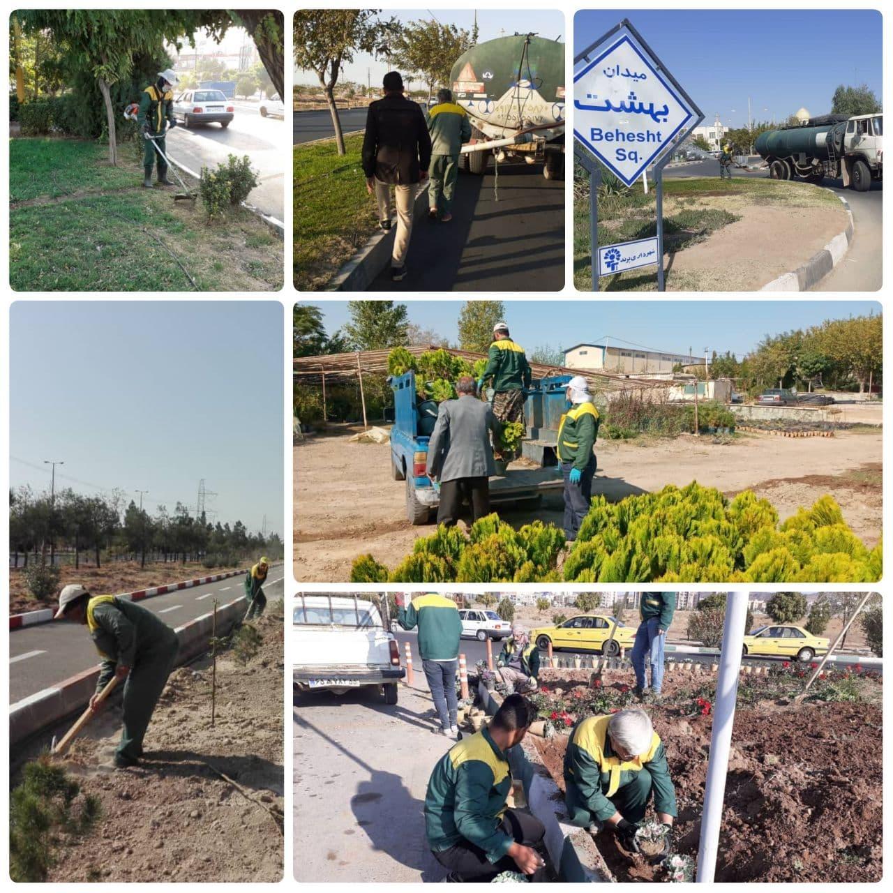 مدیریت شهری پرند؛ کوشا در حفط و توسعه فضای سبز