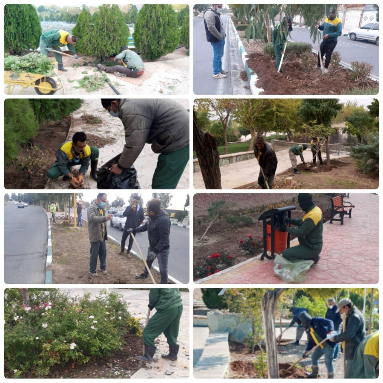 اقدامات گسترده و مستمر مدیریت شهری پرند در حوزه فضای سبز
