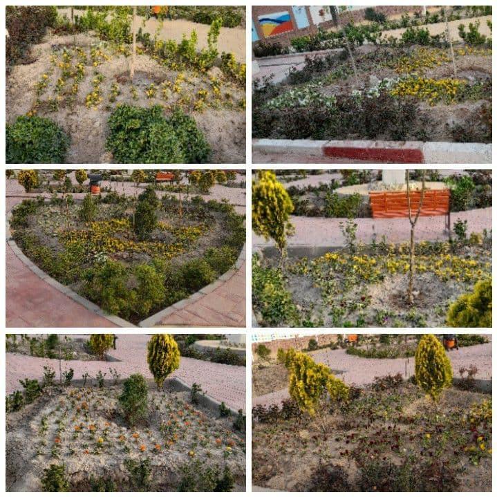 طراوت و عطر بهاری در بوستان بانوان اجرای عملیات کاشت گل های فصلی در بوستان بانوان شهر پرند