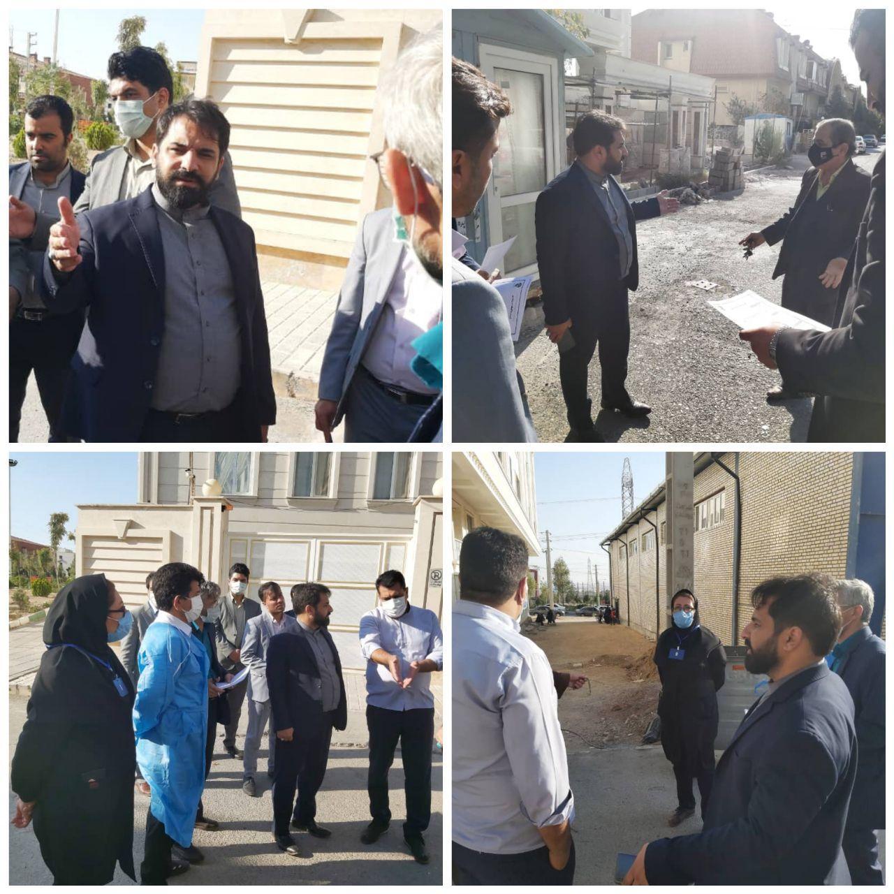 بازدید میدانی شهردار پرند از سطح شهر و رسیدگی به مشکلات و مطالبات شهروندان