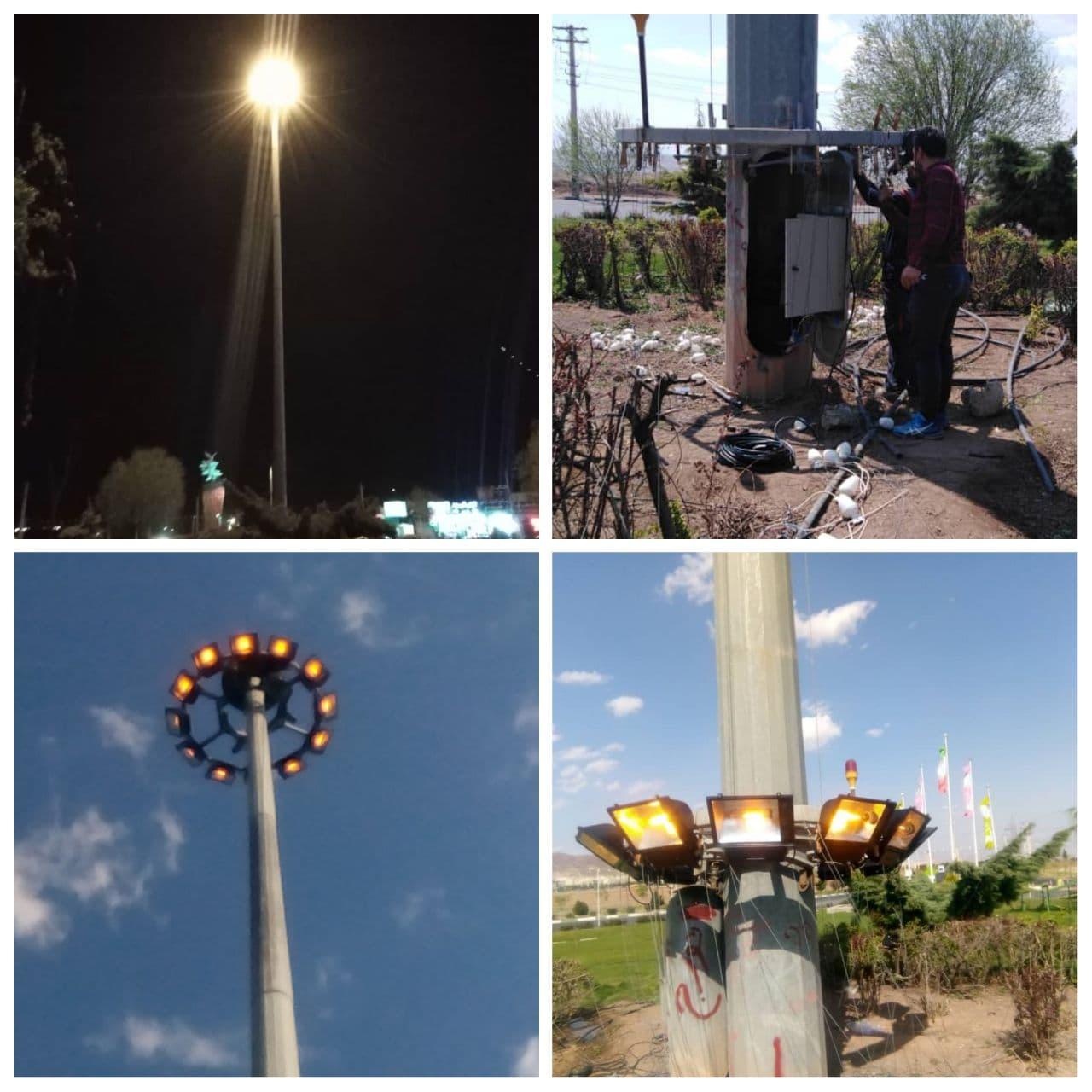 اهتمام مدیریت شهری پرند برای بهبود کیفیت روشنایی سطح شهر