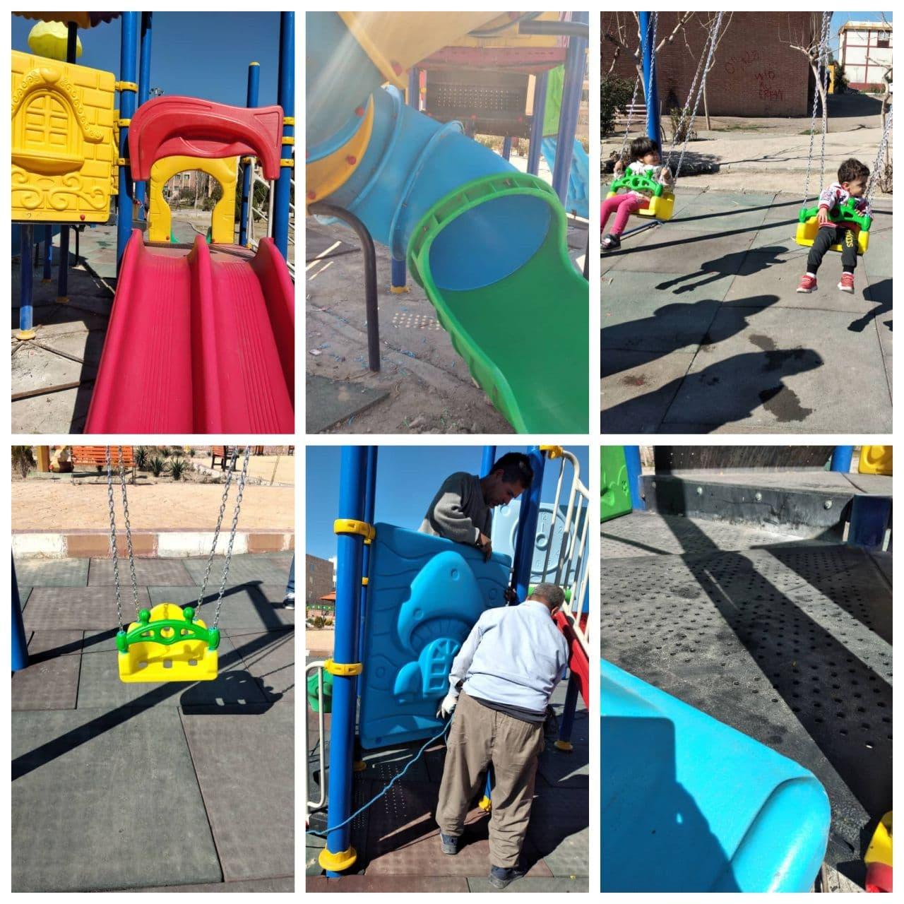 ساماندهی سِت های بازی کودکان در پارک های پرند