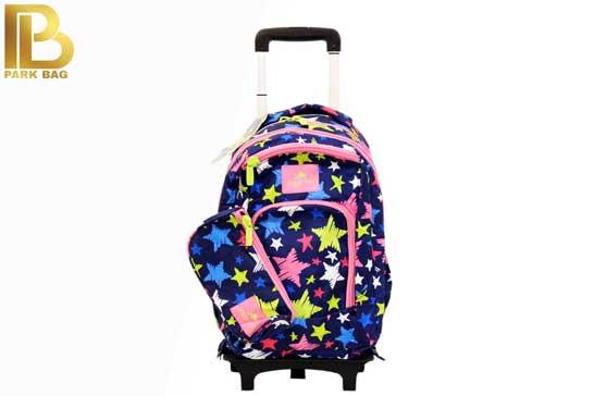 کیف مدرسه سه تیکه چرخ دار Glossy Birds