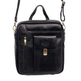 کیف دوشی تمام چرم بوفالو مدل درب دار