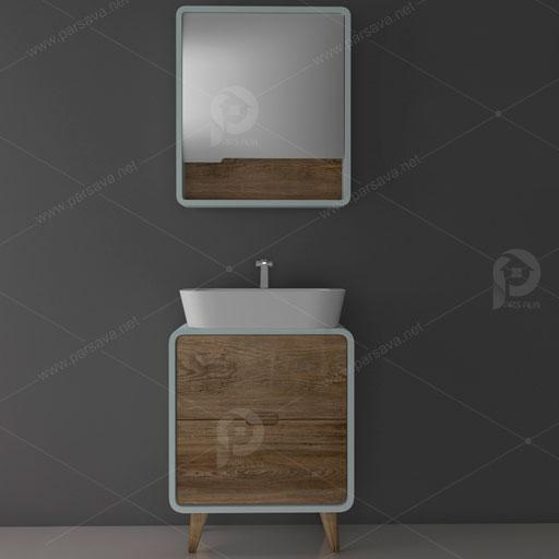 خرید کابینت روشویی pvc | آرون | مدل پی وی سی1 | 02133285371