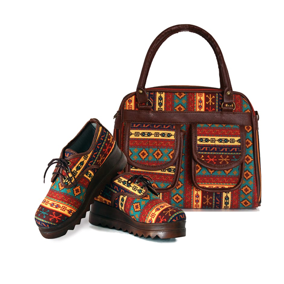 Kilim Handbag and Shoes