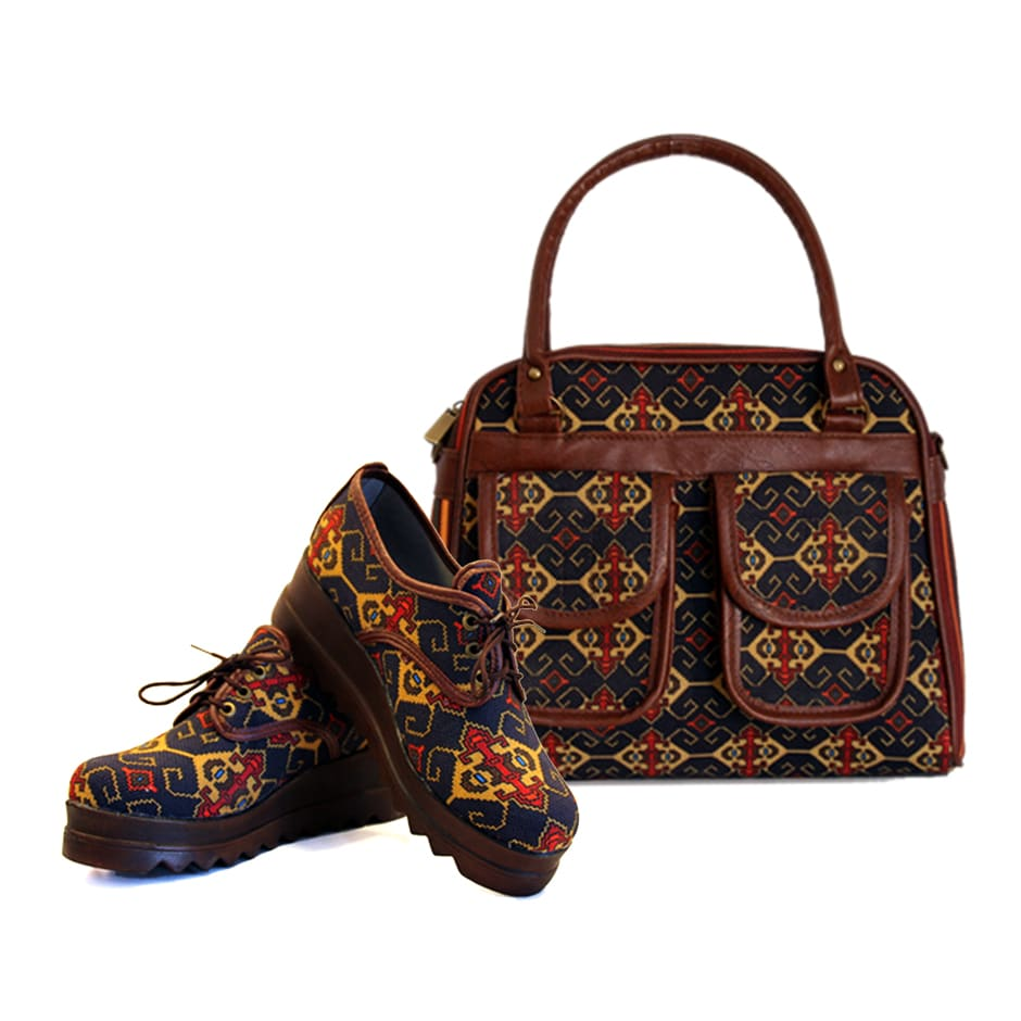 kilim Handbag and Shoes