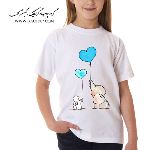 تیشرت سفید بچگانه
