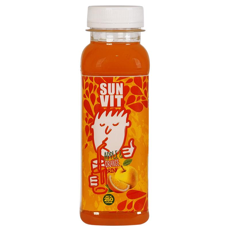 نوشیدنی مخلوط سیب و پرتقال سان ویت -250 میلی لیتر