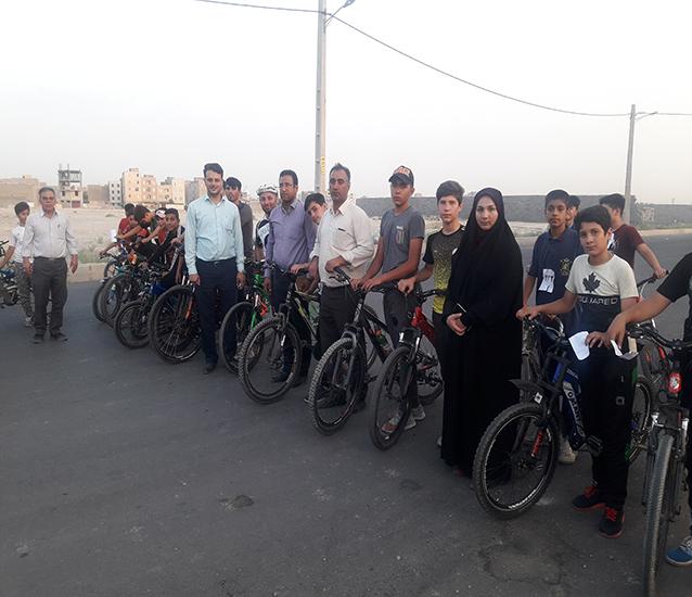 برگزاری مسابقات دوچرخه سواری محله ای در شاهدشهر