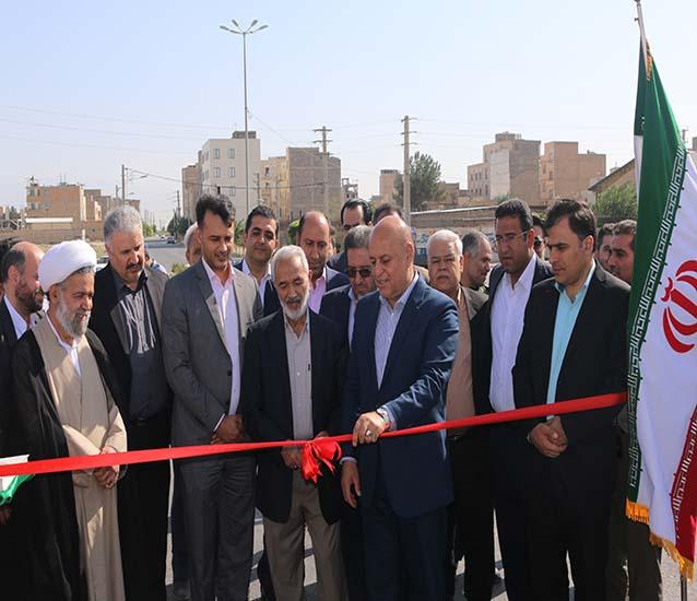 افتتاحیه پروژه های عمرانی شاهدشهر به مناسبت هفته دولت