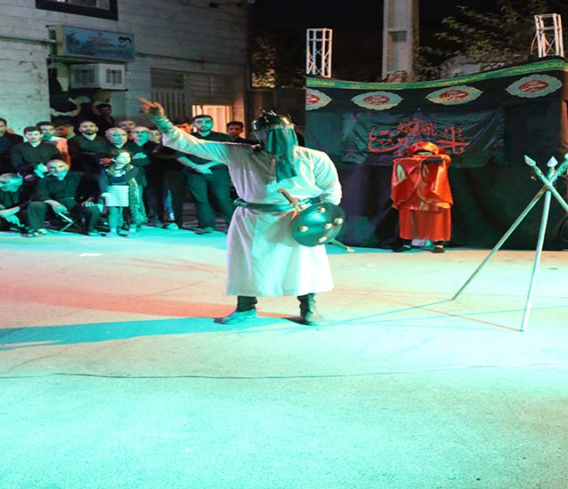 اجرای نمایش مذهبی در شاهدشهر