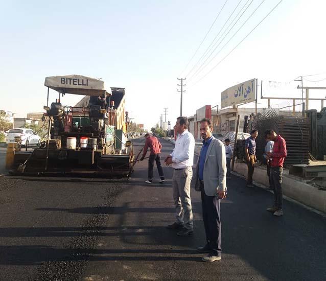 پایان عملیات تعریض و روکش آسفالت محور اصلی شهریار به آدران حوزه شاهدشهر