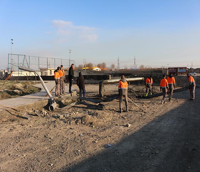 پاکسازی محل حادثه سقوط هواپیمای اوکراینی توسط نیروهای معاونت خدمات شهری