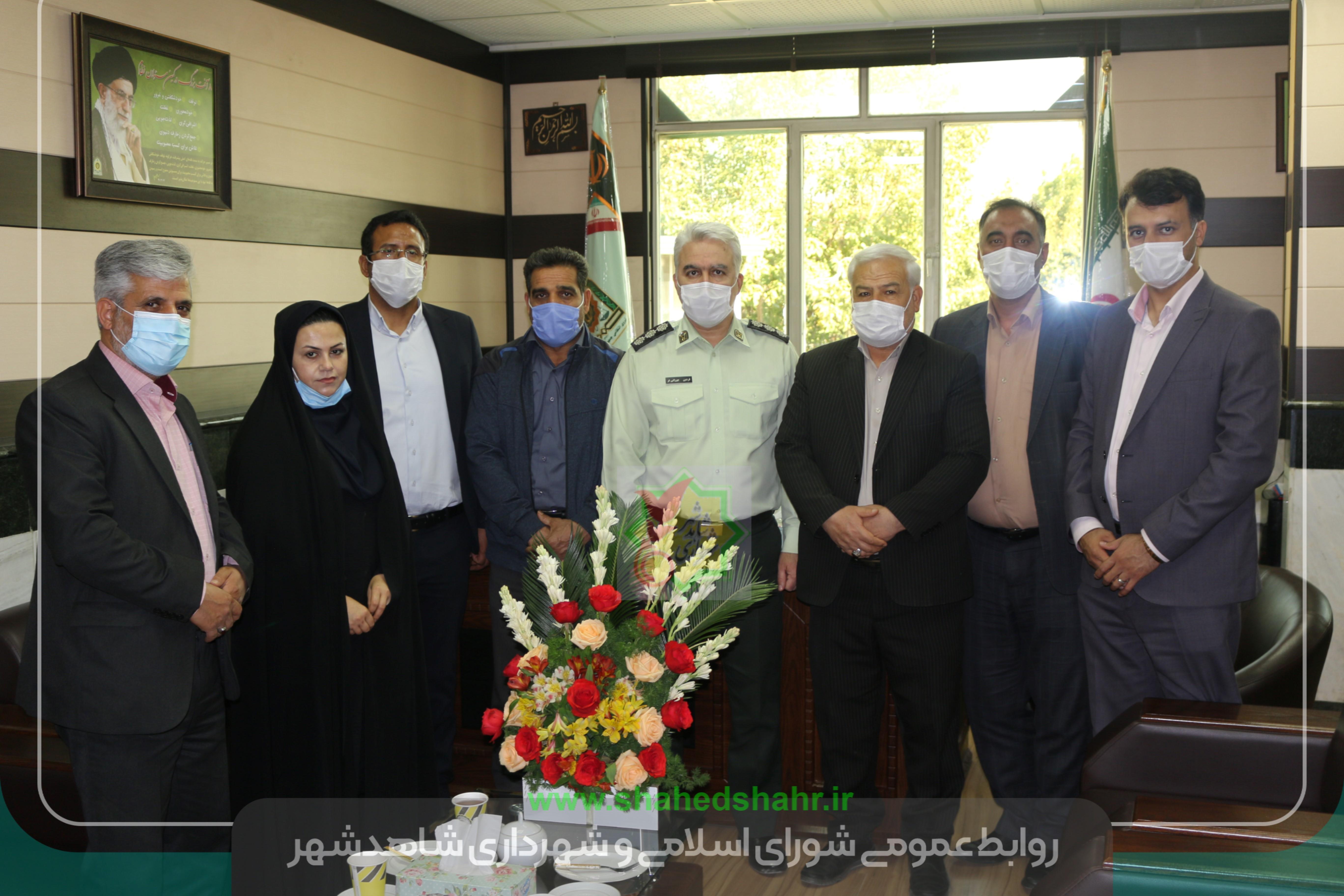 دیداری صمیمی با فرماندهان نیروی انتظامی شهرستان شهریار به مناسبت پاسداشت هفته نیروی انتظامی