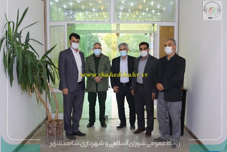 دیدار شهردار و نایب رئیس شورای شهرستان شهریار با رئیس کمیته امداد امام شاهدشهر در هفته بسیج