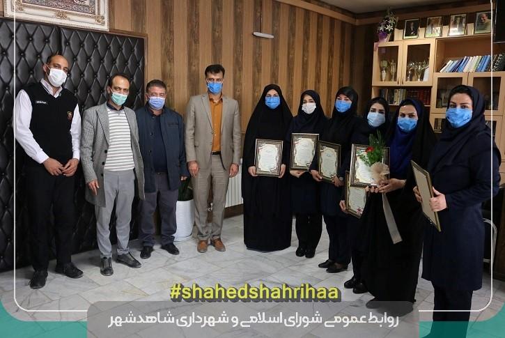 گرامیداشت مقام زن و تجلیل از بانوان شاغل شهرداری شاهدشهر
